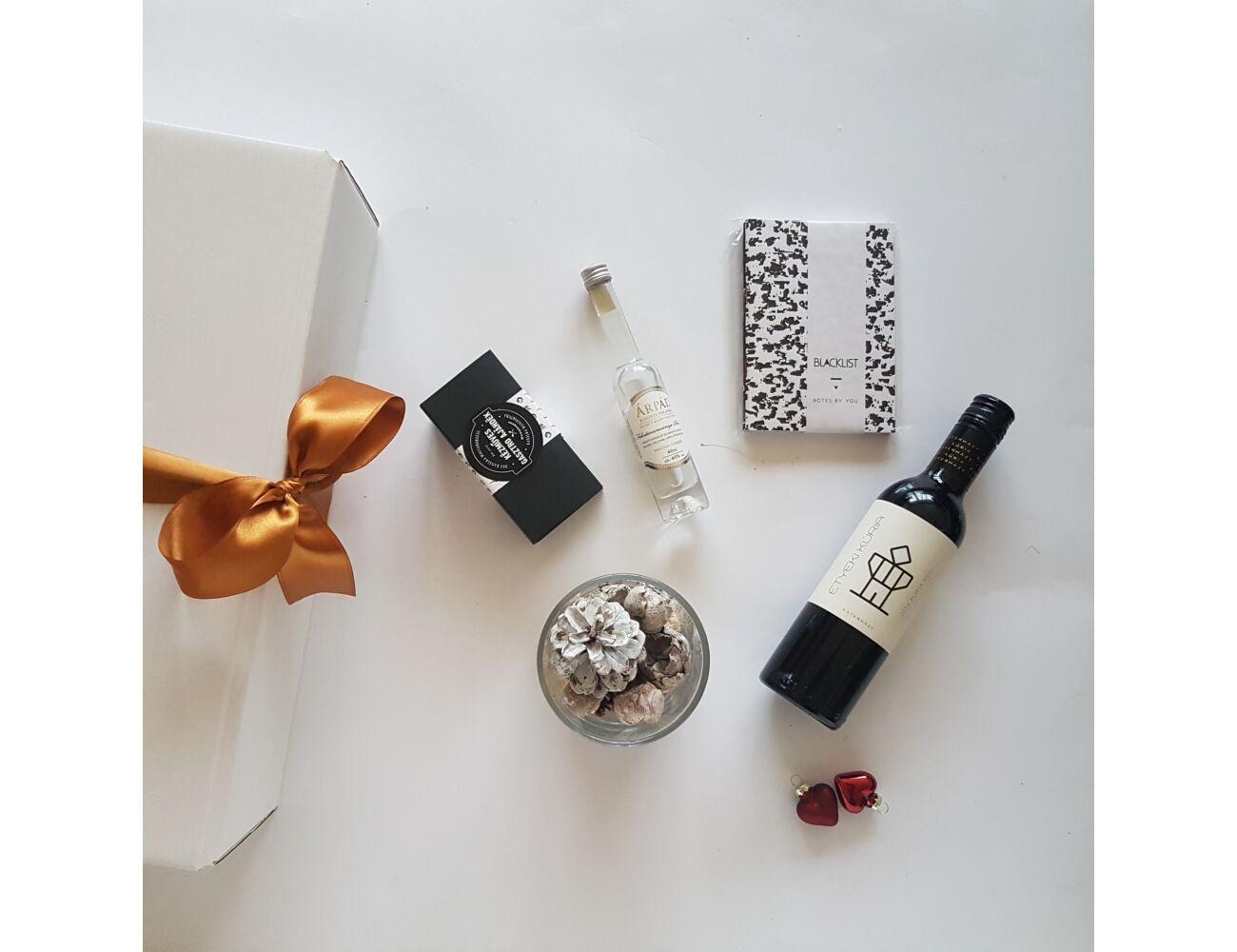 Fekete-fehér design ajándékcsomag