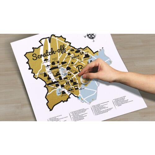 Férfiaknak való - notesz, finomságok, kaparós Budapest design-térkép