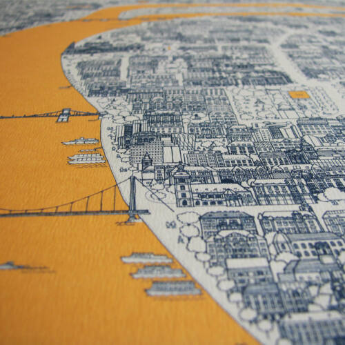Férfiaknak való ajándékcsomag - design-füzet, finomságok, Budapest design-print