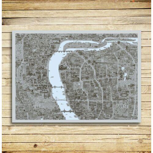 Csodás kis lilaságok ajándékcsomag - Budapest design-printtel