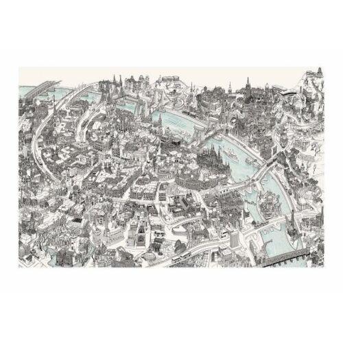 Szeretem ezt a várost - Magyar Béla Budapest print, pálinka, notesz, csoki